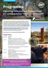 Programma infocentrum Pannenhoef